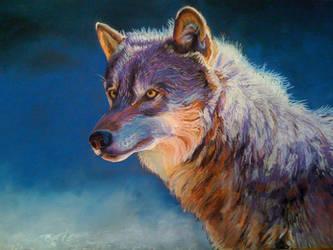 Purple Wolf Pastel by chibudgielvr