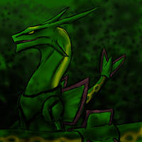 Pokemon no.384 Rayquaza by Kyuubi0017