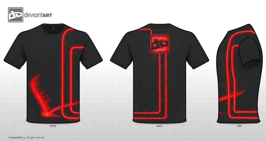 DeviantART Logo T-Shirt design by Kyuubi0017