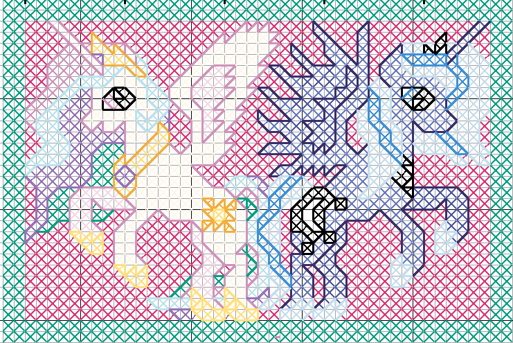 Celestia and Luna Pattern by jysalia