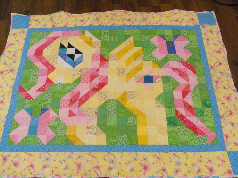 Fluttershy Quilt by jysalia