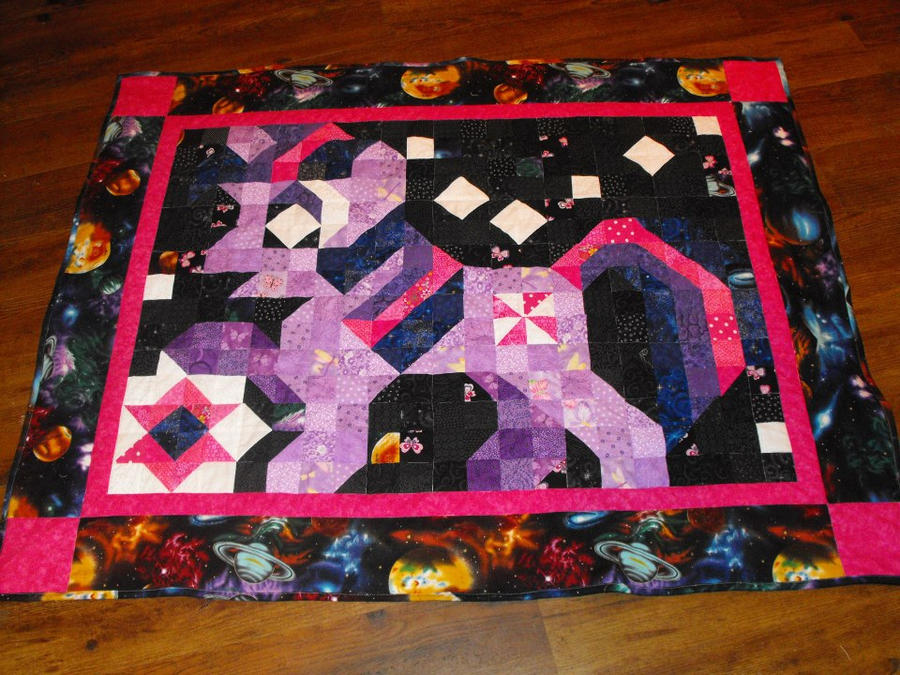 Twilight Sparkle Quilt by jysalia