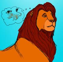 Mufasa Sketch by JEAikman