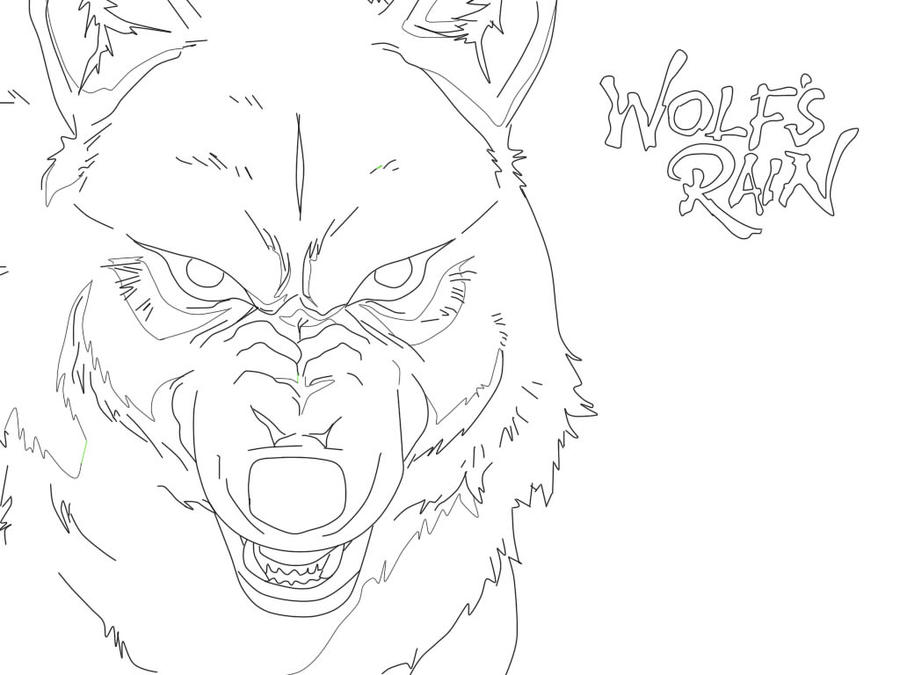 wolf rain coloring pages - photo#15