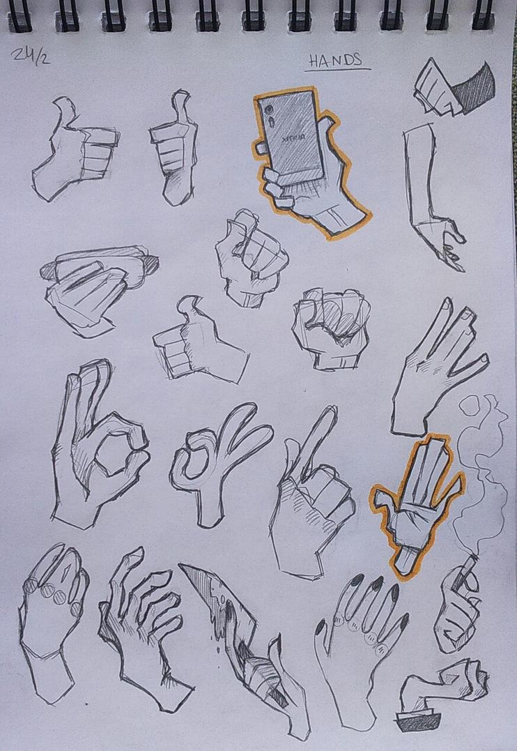 [018] - random cartoony hands by LudwigETC