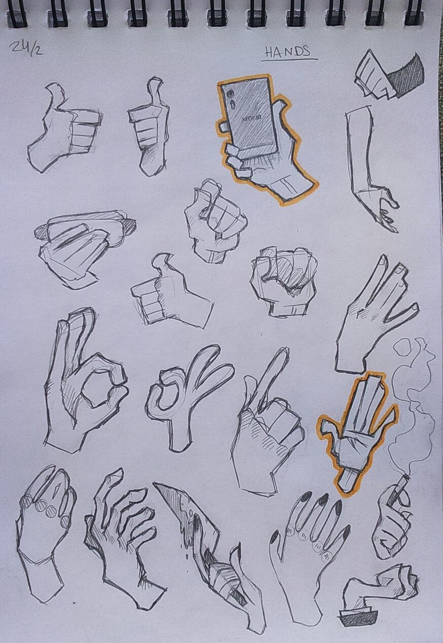 [018] - random cartoony hands by zitru