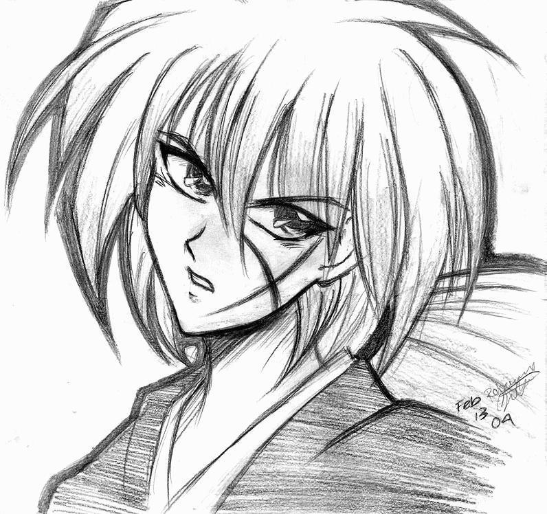 Himura Kenshin By Kittensgomeowy