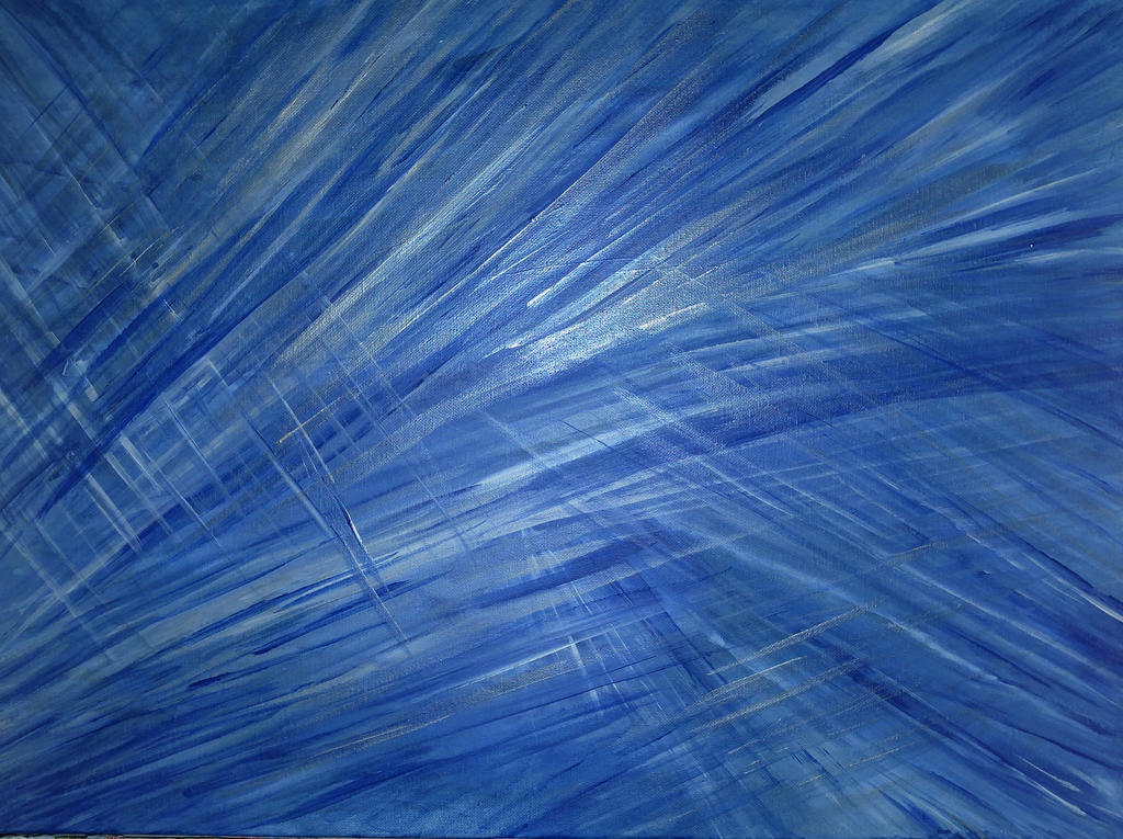 Passion of sliver blue 24x30 acrylic  by vandersonart