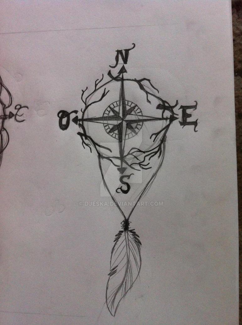 compass tattoo by djeska on DeviantArt