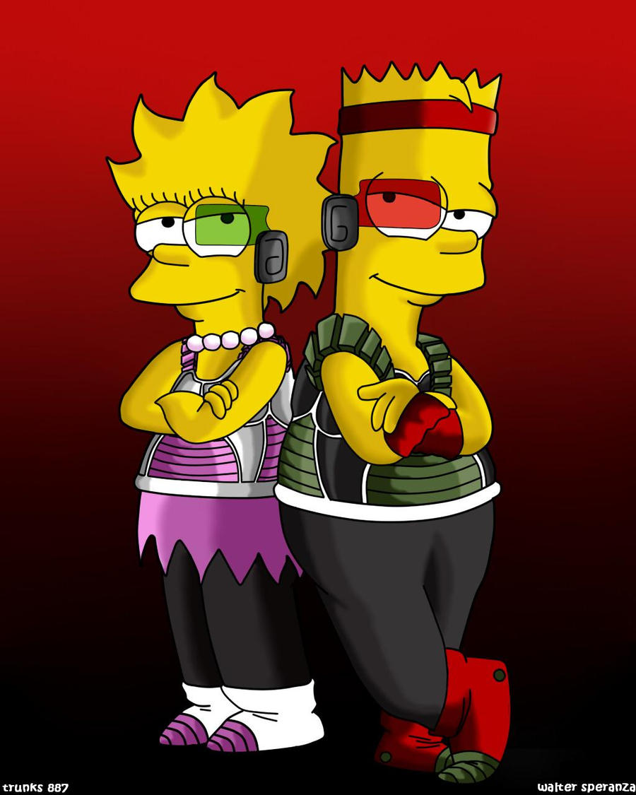 bart y lisa saiyajines by trunks887