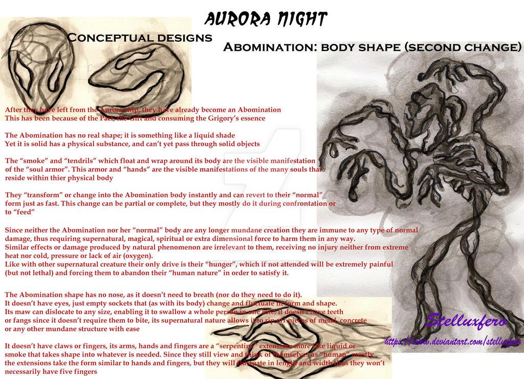 Aurora Night Conceptual Design- Abomination Shape by Stelluxfero