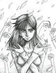 Nico Robin Pen Drawing