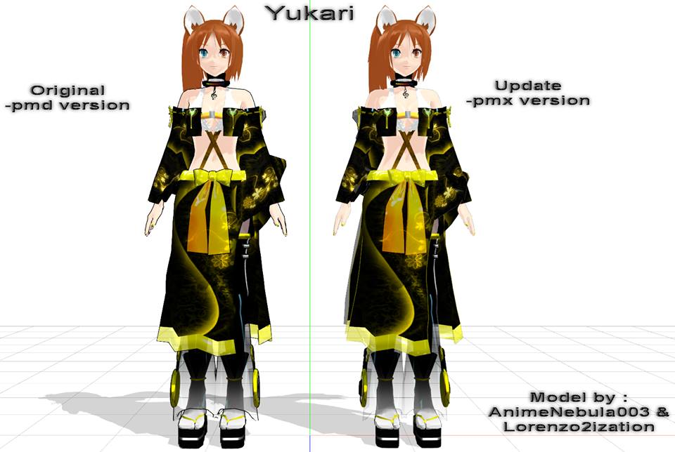 New Yukari Pmx and Pmd Download by Lorenzo2ization