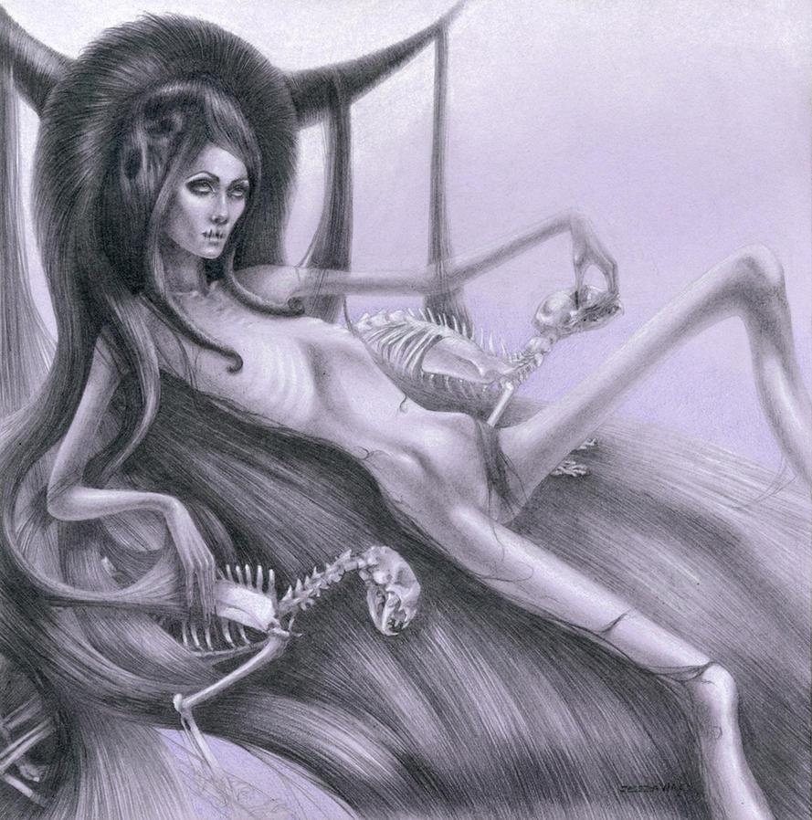 Anorexia Deity by Jessicawardart