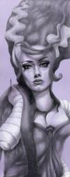 The Bride of Frankenstein by Jessicawardart