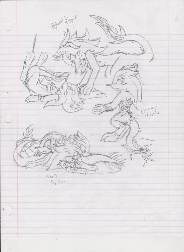 hedgedrake sketches by RockDthehedgehog