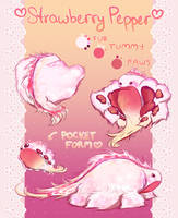 {OPEN} Snubble Adopt #1 -- Strawberry Pepper 1 by pocketbeetle