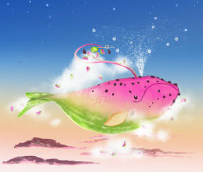 {OPEN}Adopt-to-Donate: Watermelon Whale + Video