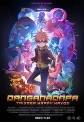 DANGANRONPA 10th Anniversary Movie Style Poster