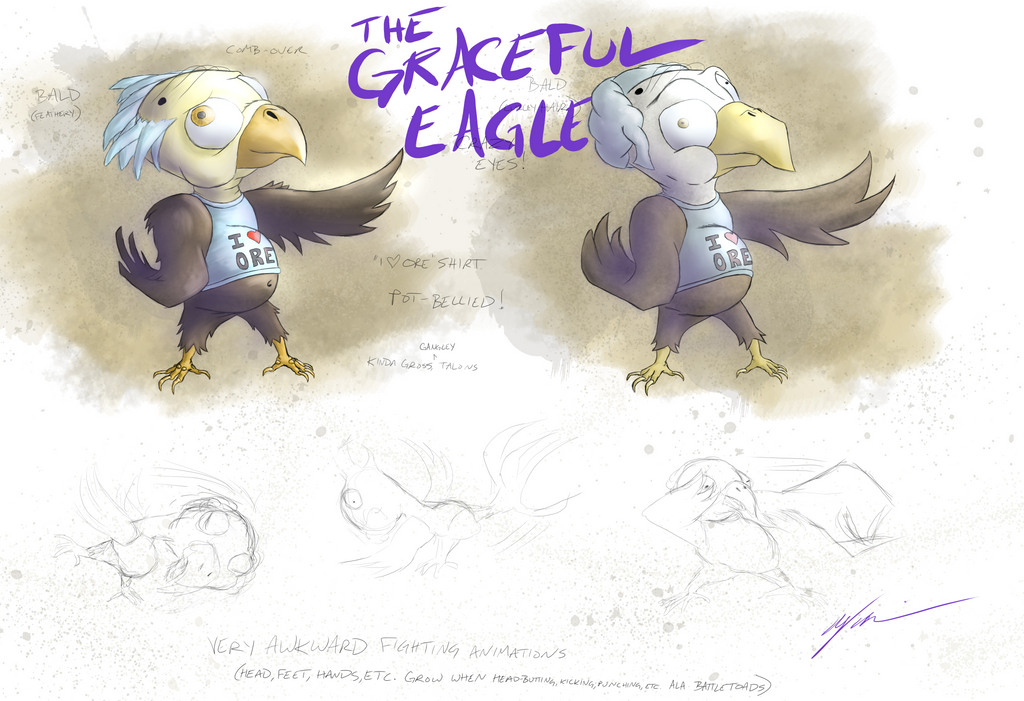 The Graceful Eagle Character Concept by RubberGardener