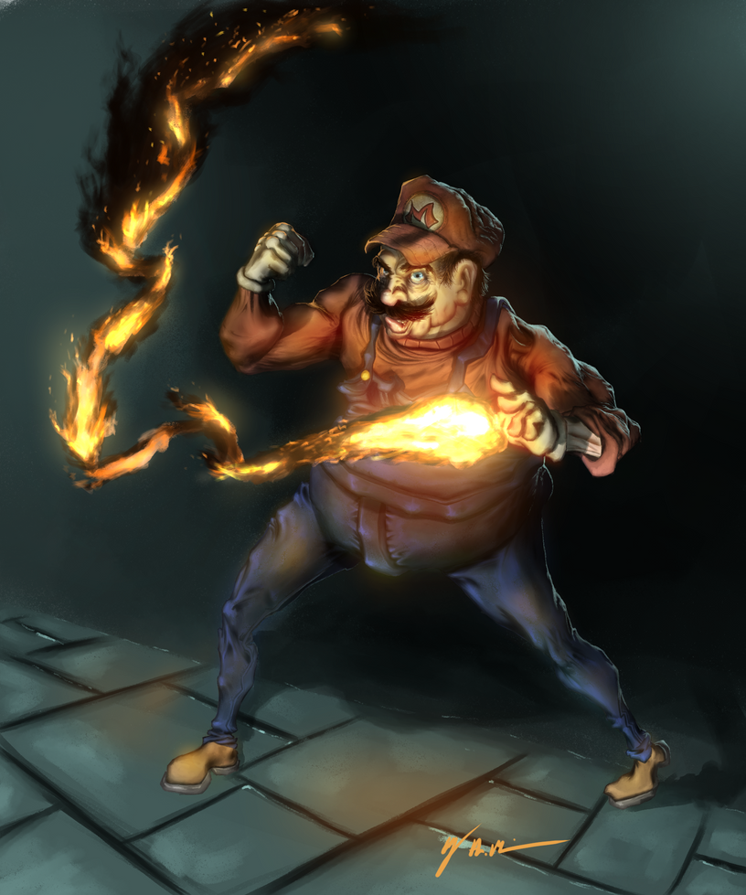 Mario by RubberGardener