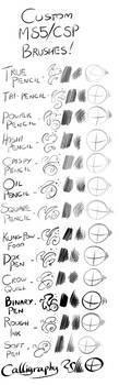 Custom Manga Studio/Clip Studio Paint Brushes