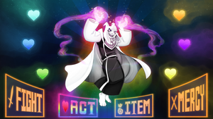 HYPERGOD ASRIEL (Wallpaper) by TheInkyWay