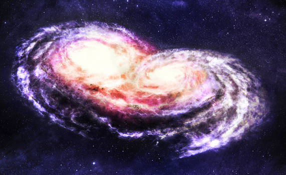 Galactic Collision Color