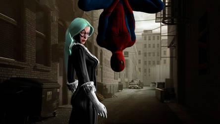 Spider-blackCat by jhv27