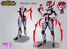 PROJECT Elise Concept Art- LoL by MiraiHikariArt