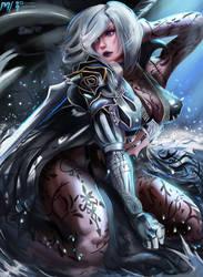 Krystalla - Black Desert Online Dark Knight by MiraiHikariArt