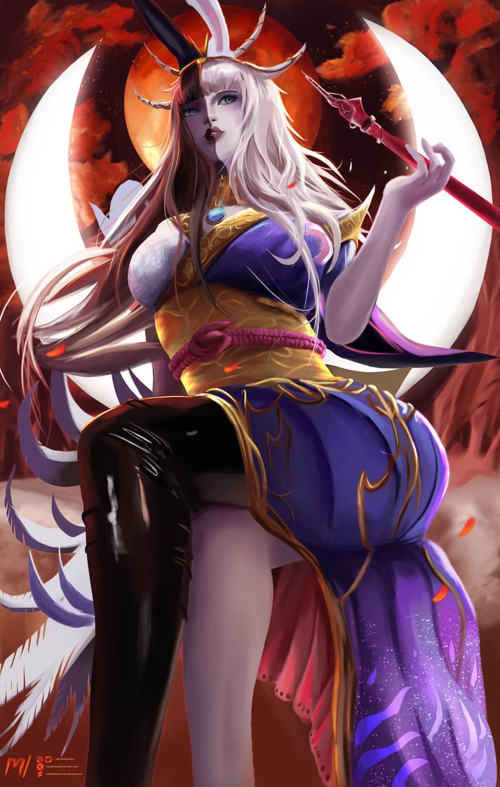 Tsukuyomi | Final Fantasy XIV by MiraiHikariArt