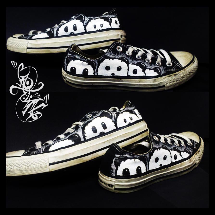 Customize pandas on black converse by Caotime ... & Customize pandas on black converse by Caotime on DeviantArt
