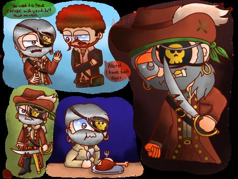 Poptropica - Captain Crawfish doodles