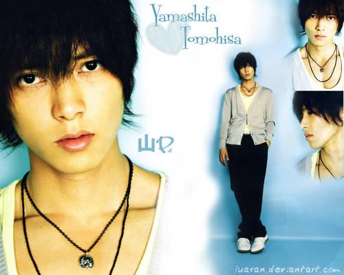 Yamashita Tomohisa wall blue