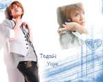Tegoshi sexy blue wallpaper