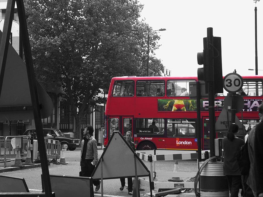 Red bus by Hidingbehingmywork