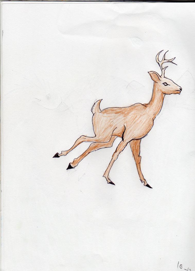 Deer by Blue-Ink-Splatter