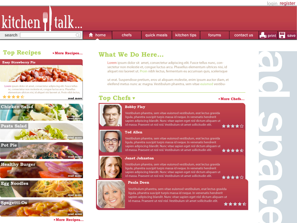 Food website design by crimsonstar6 on deviantart for Cuisine site