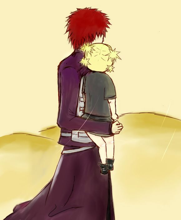 Gaara with baby Temari by YTDcrystal