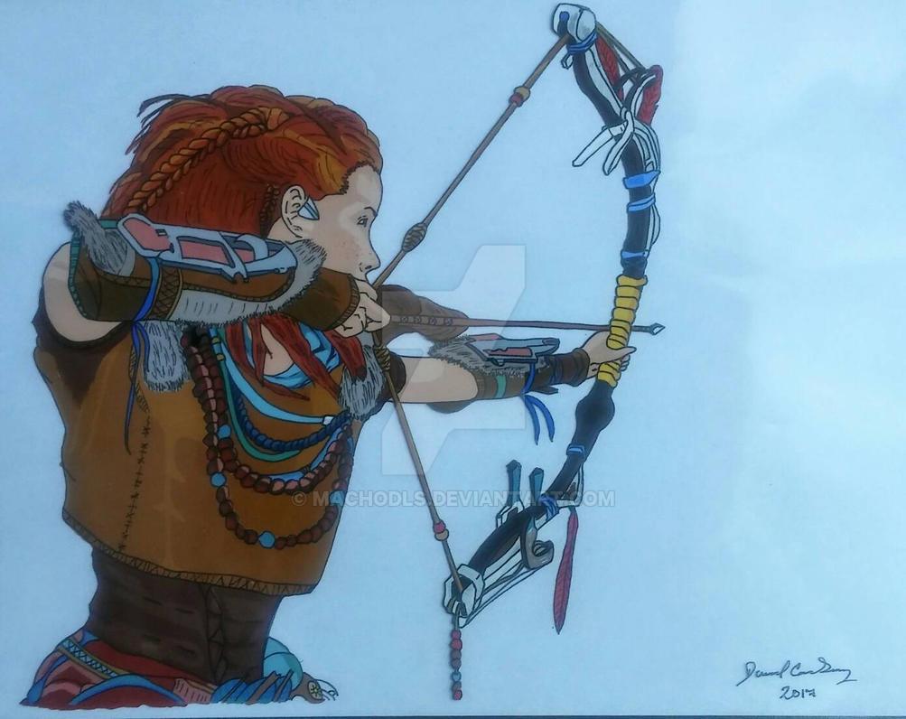 Aloy Horizon: Zero Dawn. cel painting by MachoDLS