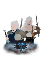 The witcher 3 Geralt and Ciri