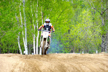 KX250 on the track - 3