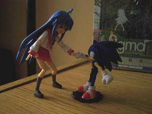 Konata meets Sonic