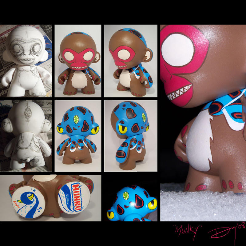 Munky Munny and Octoscarf by oshimagun