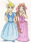 Cloud and Aerith FFVII