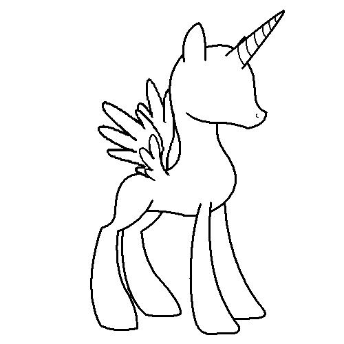Elegant Alicorn Pony Base By SolticeWishes On DeviantArt