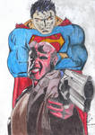 Superman vs Hell Boy