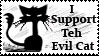Teh evil Cat stamp by Cherille