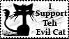 Teh evil Cat stamp by Cherille